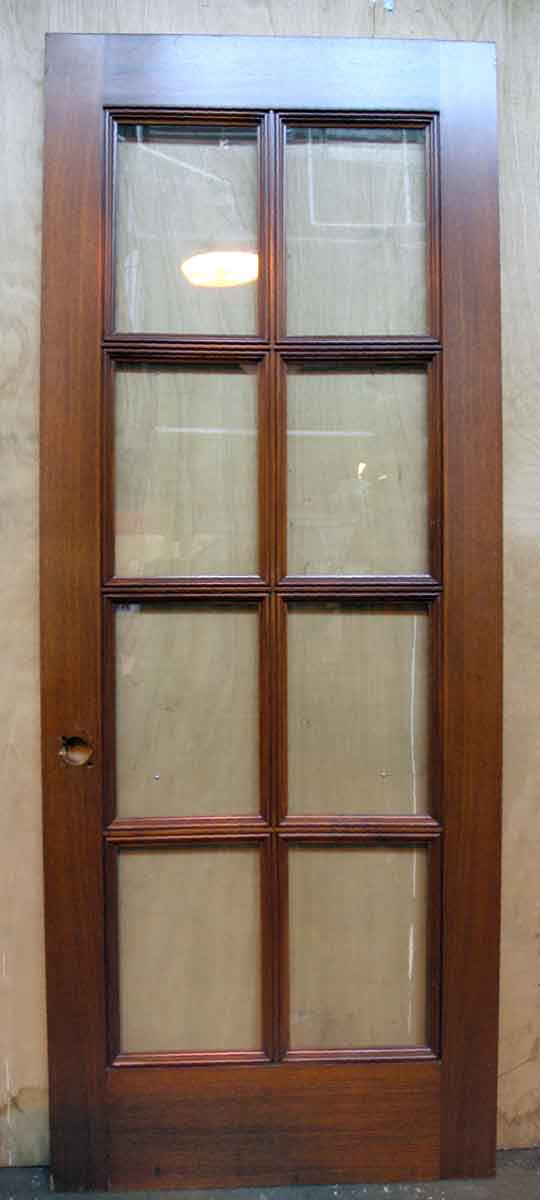 Tall Single Walnut French Door