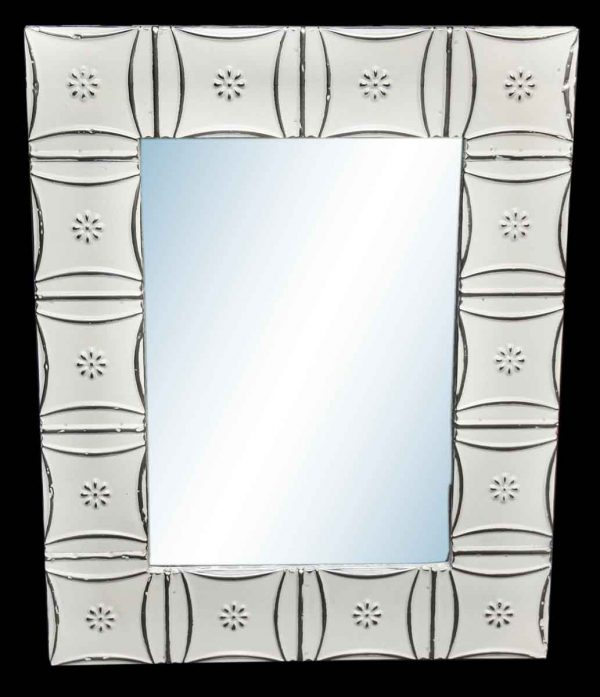 Snowflake 4.5 in. Tin Framed Mirror