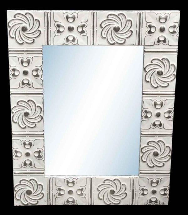 Pinwheel 4.5 in. Tin Framed Mirror