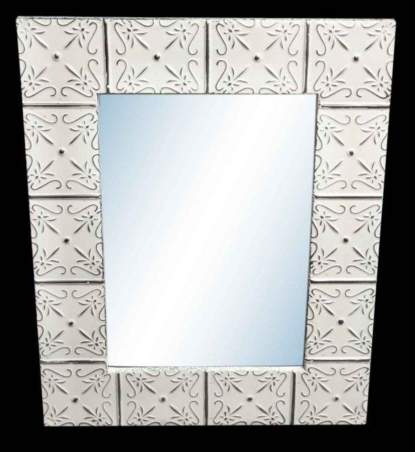 Petals 4.5 in. Tin Framed Mirror