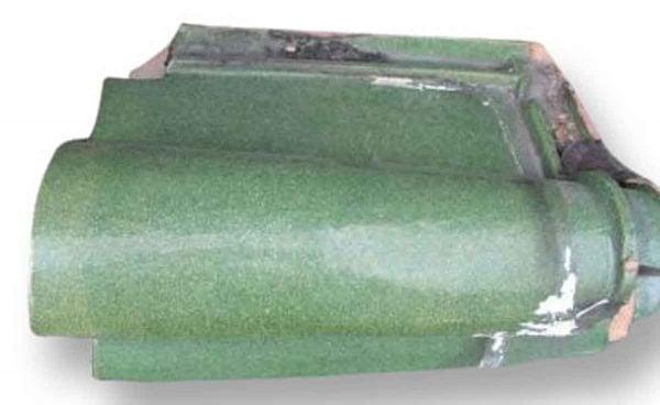 Green Glazed Ludowici Roof Tiles