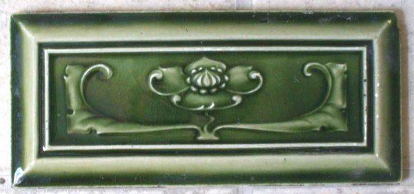 Wide Green Lotus Blossom Tile Set