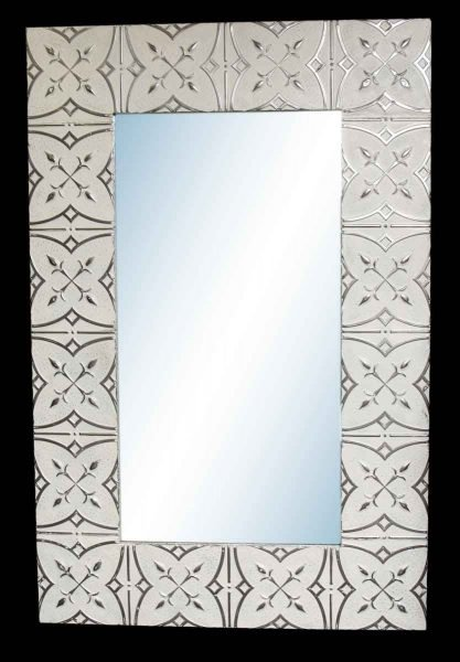 Spades 10 in. Tin Framed Mirror