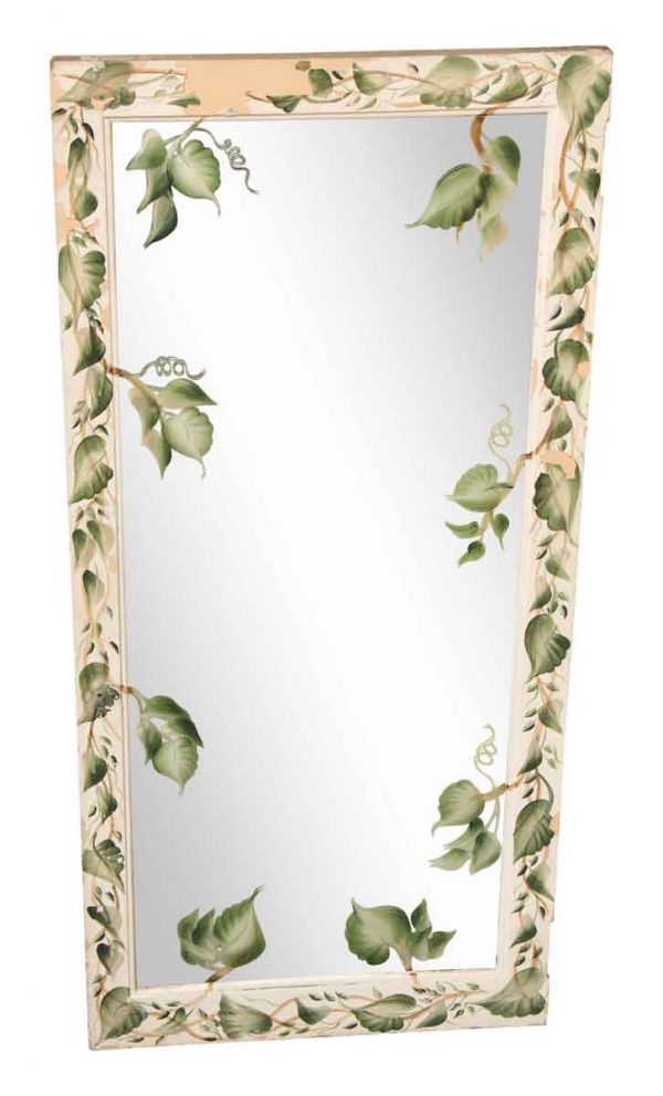 Painted Mirror with Ivy Design