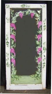Painted Mirror with Grape Design