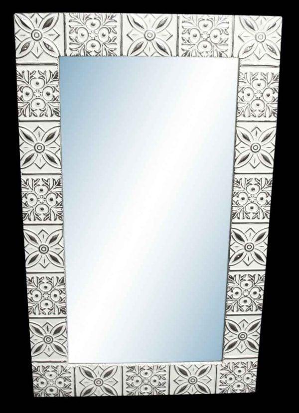 Starflake 4.5 in. Tin Framed Mirror