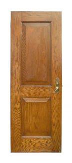 oak two panel door