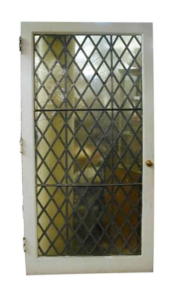 Extra Wide Tudor Style Leaded Glass Door