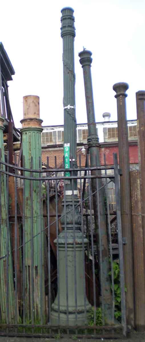 Cast Iron Green Lamp Post