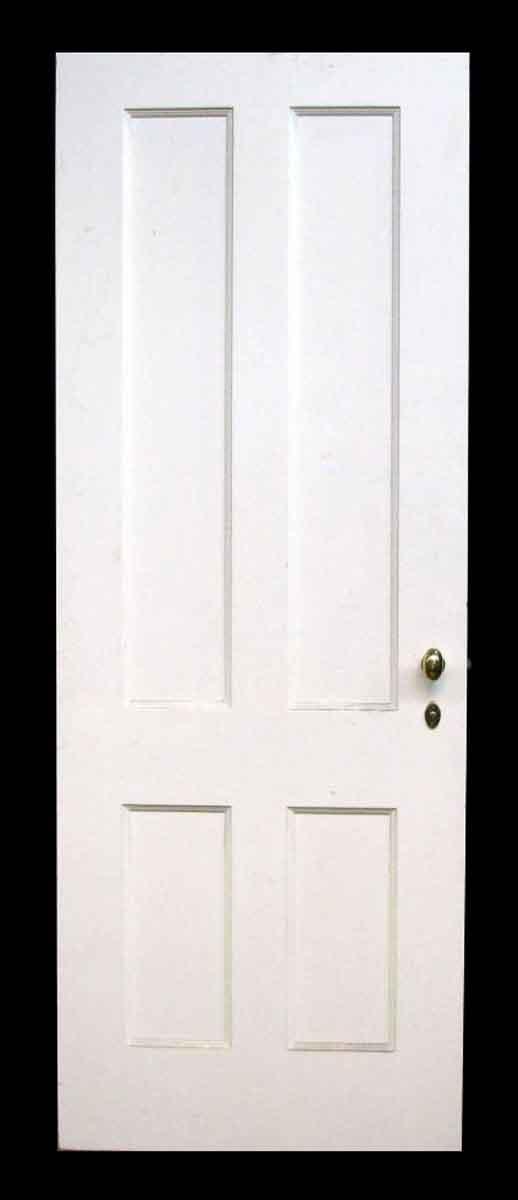 Painted Four Recessed Panel Wood Door