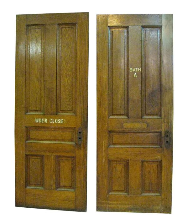 Raised Five Panel Oak Doors
