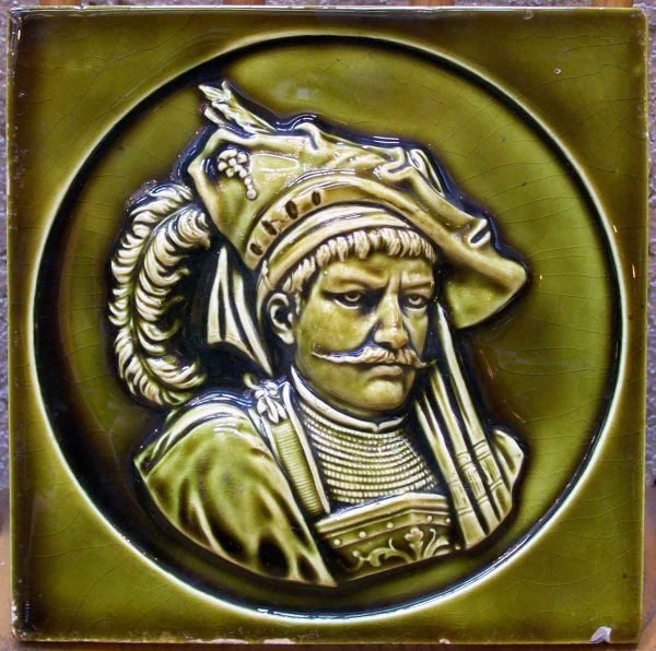 Tile Depicting a Conquistador