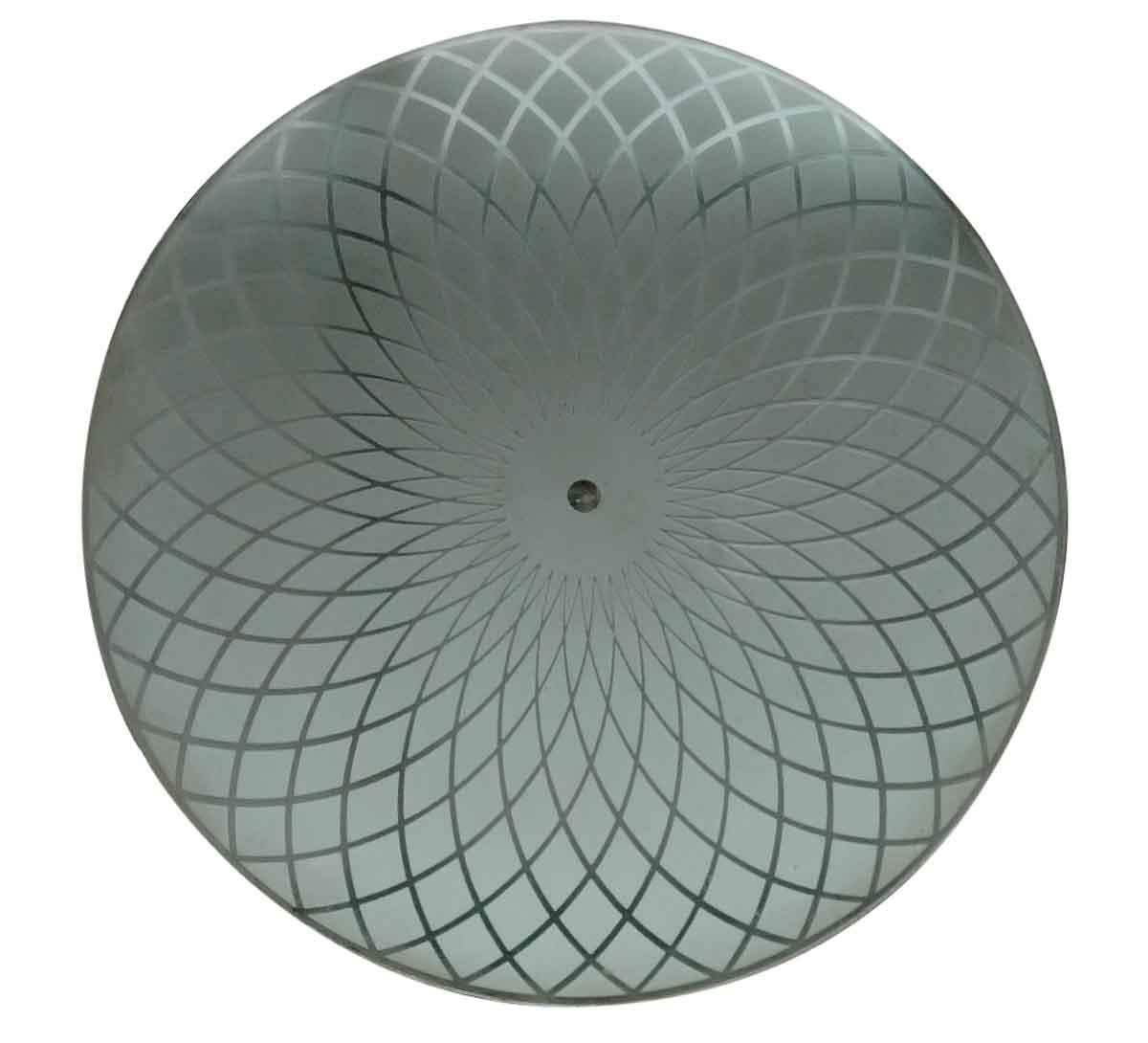 Art Deco Dish Light Fixture Glass