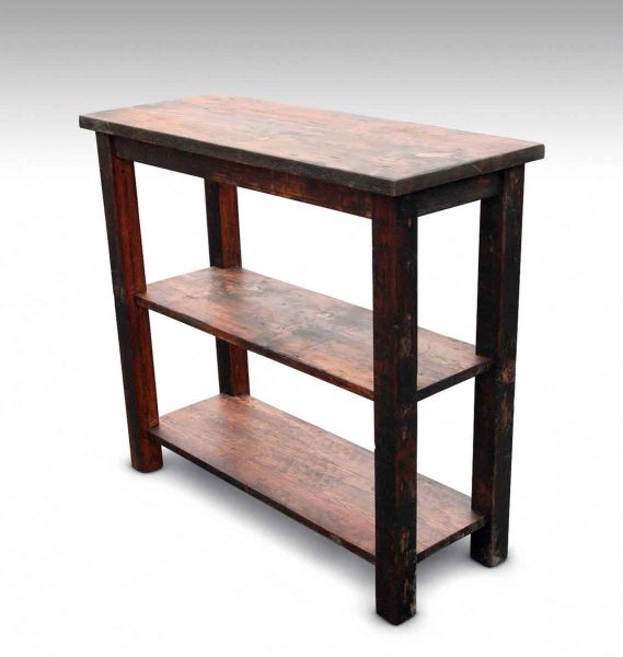 Rustic Pine Sofa Table: Rustic Pine Serving Table Or Console