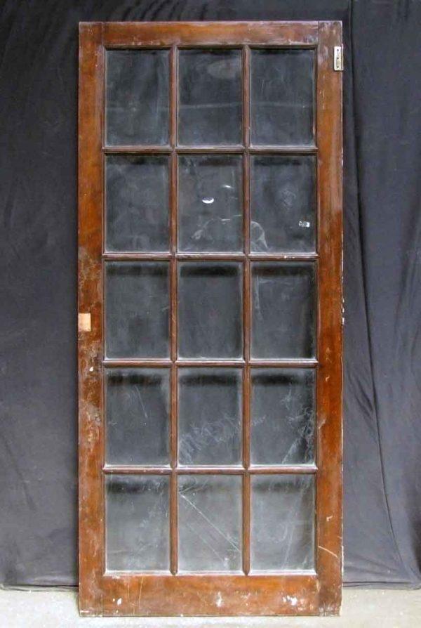 Fifteen Panel Oak French Door