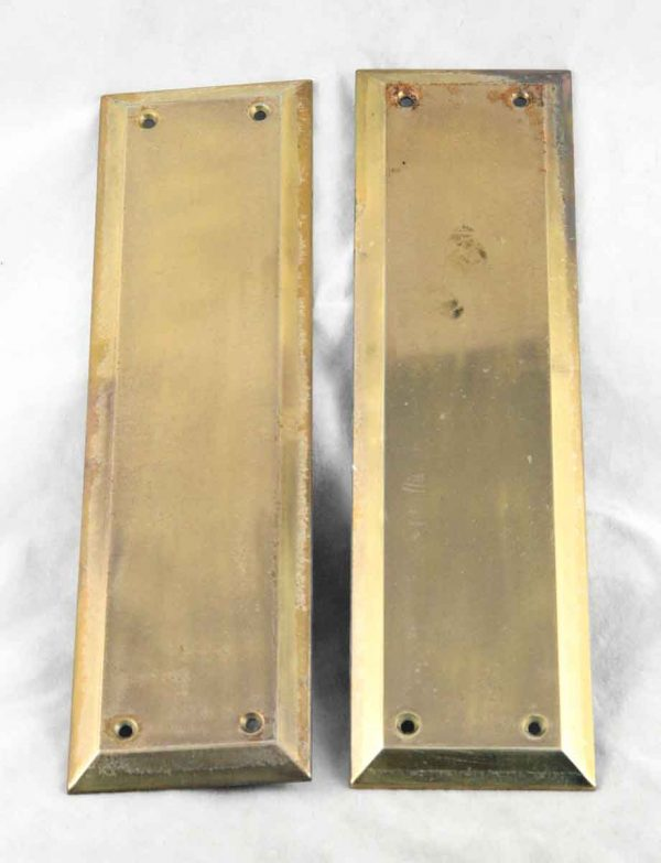 Brass Push Plates with Raised Beveled Edge
