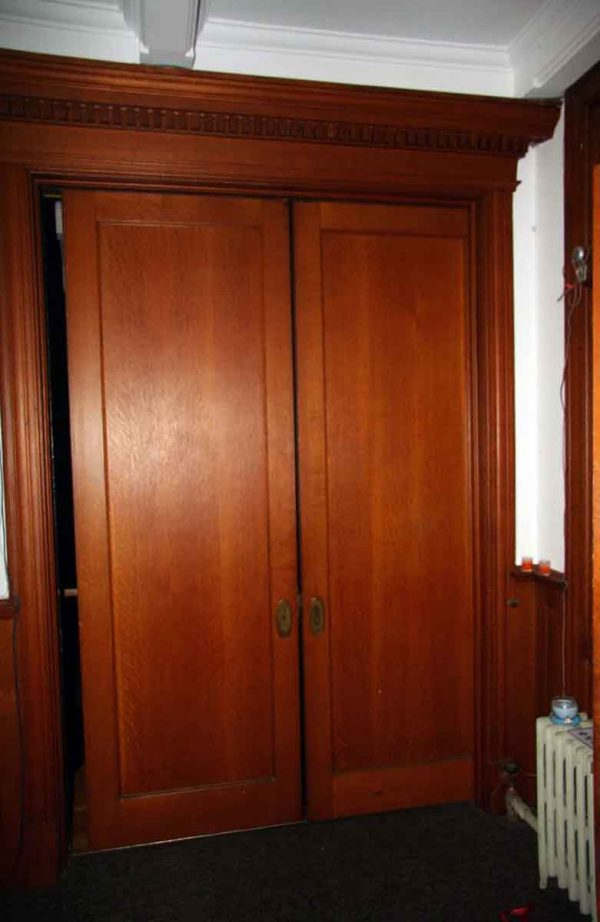 Tall Narrow Oak Pocket Doors