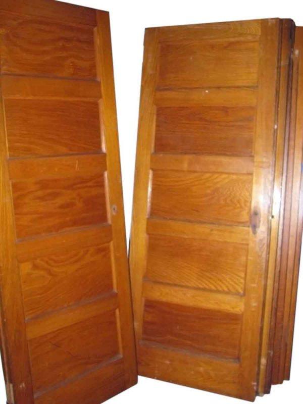 Five Panel Chestnut Wood Doors
