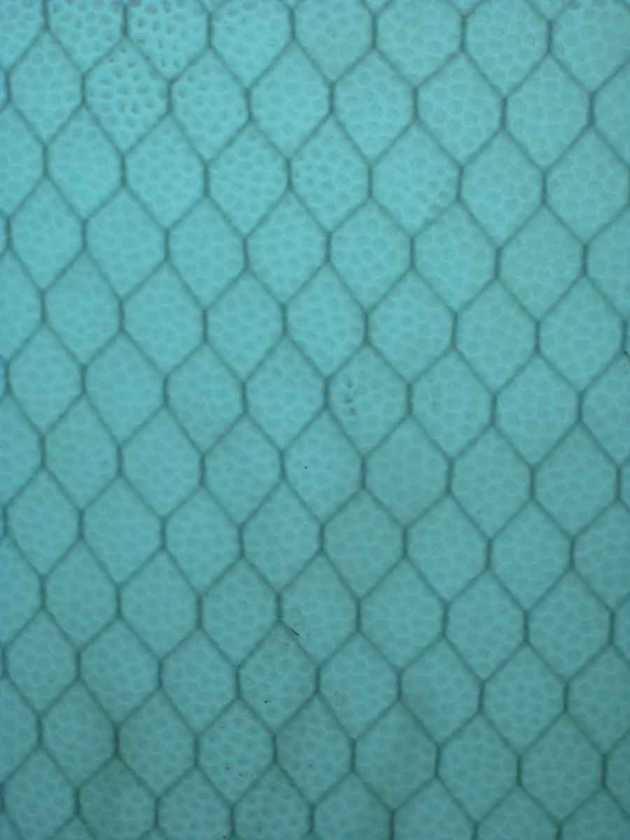 Blue & Aqua Pebbled Chicken Wire Glass | Olde Good Things
