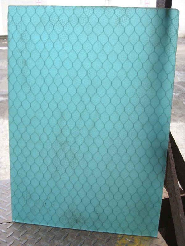 Blue & Aqua Pebbled Chicken Wire Glass