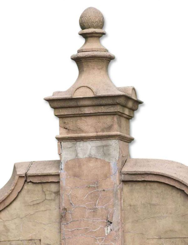 Huge Cast Stone Post Finials from from Addison Mizner's La Ronda