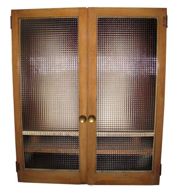 Two Pairs Cabinet Oak Doors
