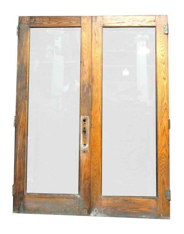 Large Oak & Glass Door