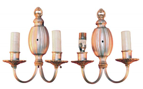 Silver Plated Wall Sconces