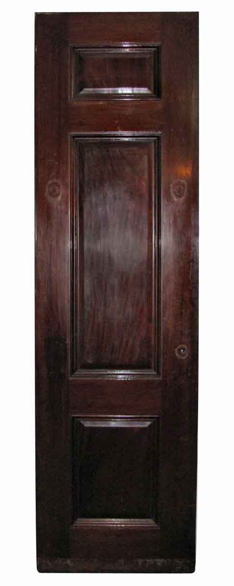 Narrow Mahogany Raised Panel Door