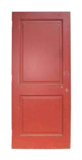 painted vintage two panel door