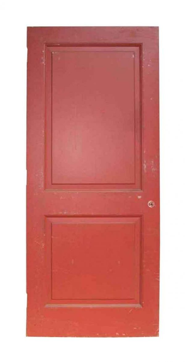 Painted Vintage Two Panel Door