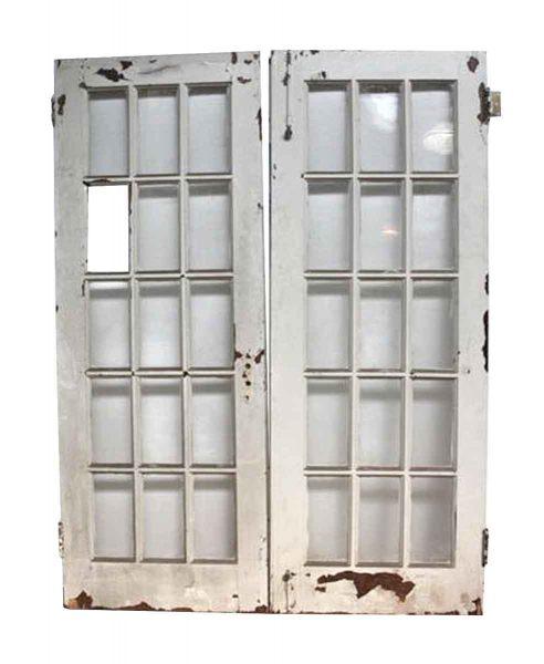 Pair of French 15 Lite Doors