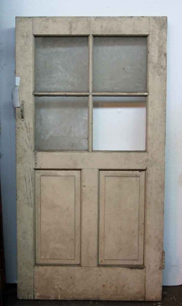 Small Glass & Two Panel Entry Door