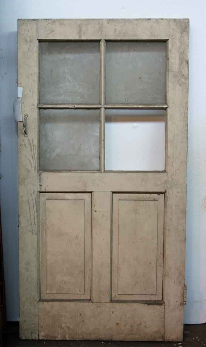 Small glass two panel entry door olde good things for Small exterior doors