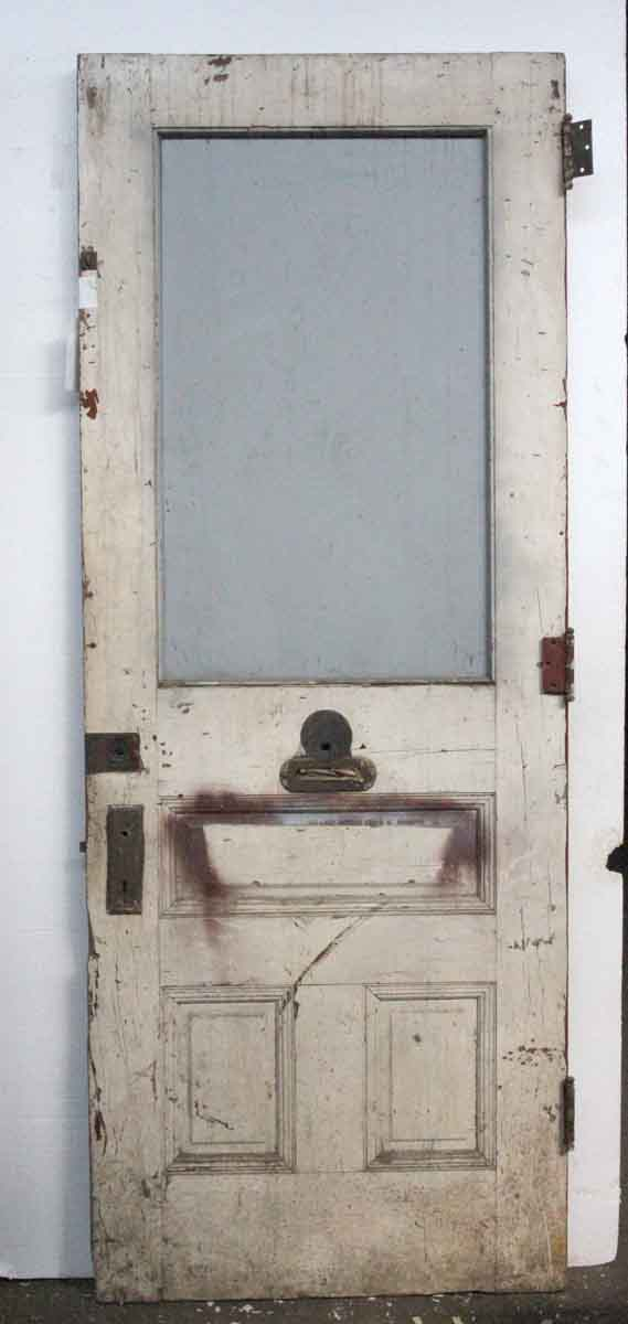 Half glass three panel entry door olde good things for Half glass exterior door