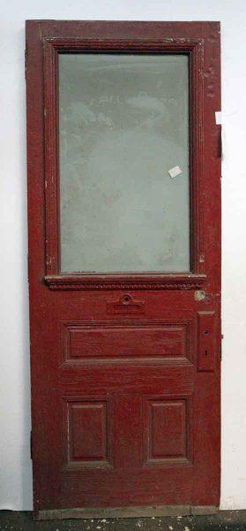 Half Glass Three Panel Entry Door