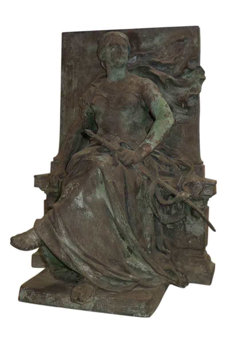 Bronze 'Seated Woman' Statue by Eugene Benet