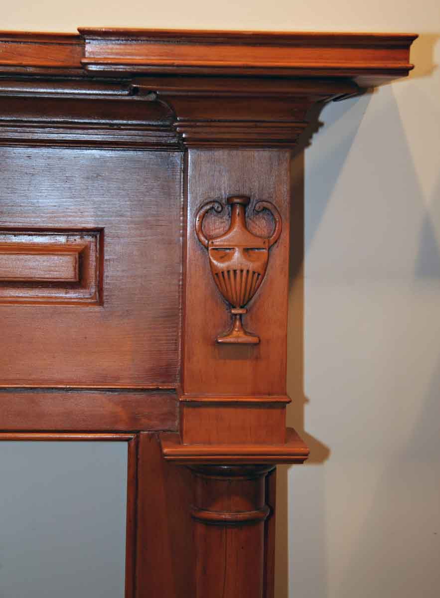 antique american federal style wood mantel olde good things