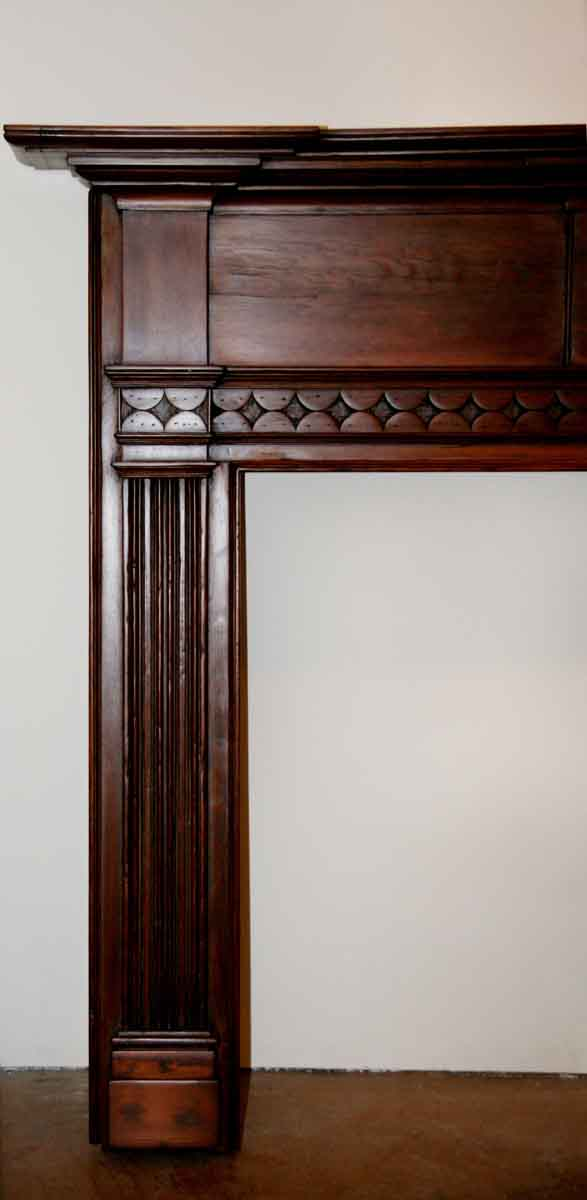 Federal Style Antique Pine Wooden Mantel Olde Good Things
