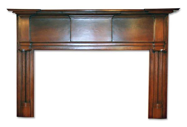 19th Century American Pine Wood Mantel