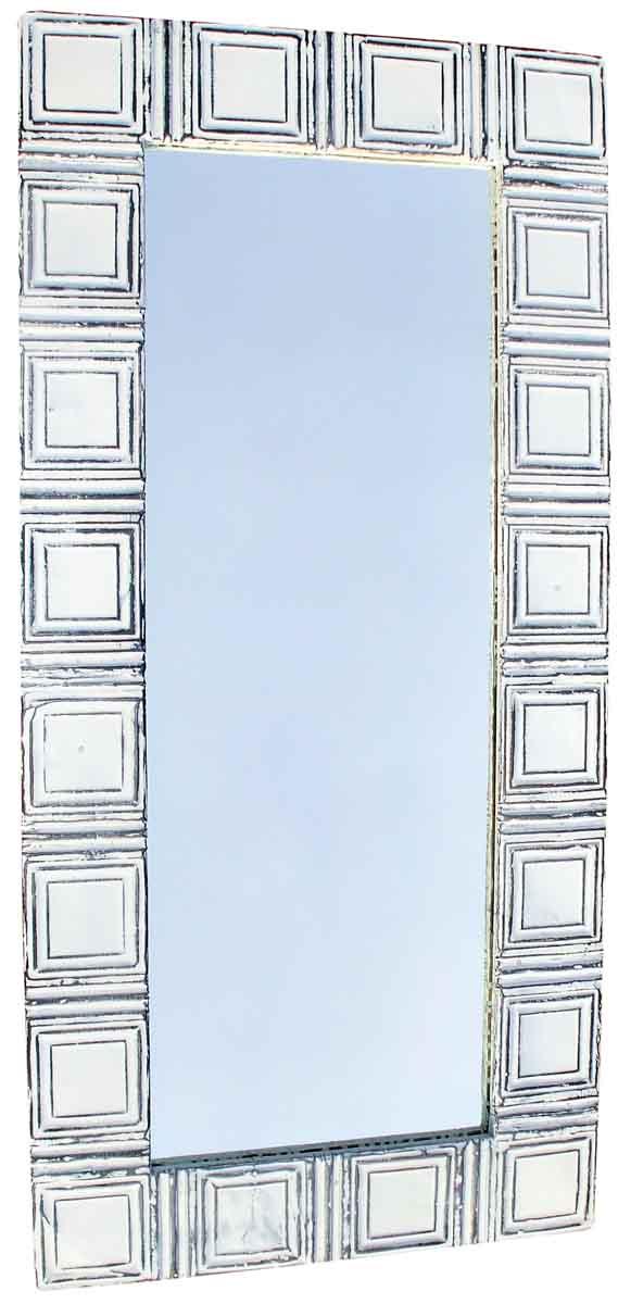 Ceiling Tin Mirror with Geometric Design