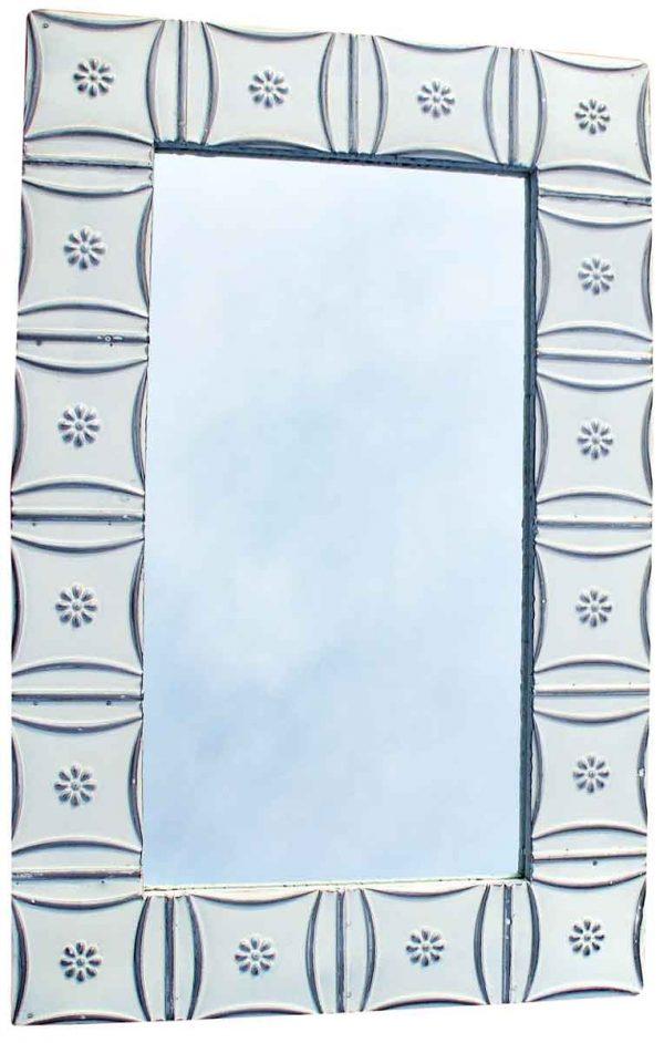 Snowflake Ceiling Tin Bathroom or Vanity Mirror