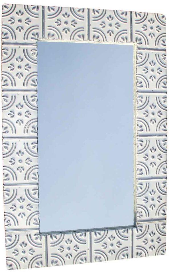Corner Tulip Ceiling Tin Bathroom or Vanity Mirror