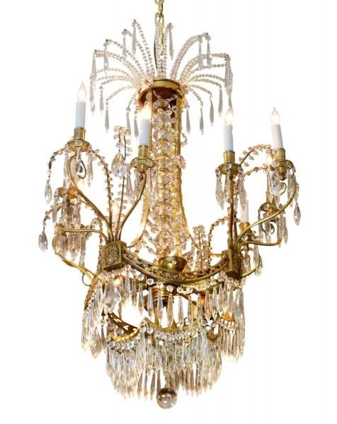 Russian Crystal Chandelier from the Plaza Hotel