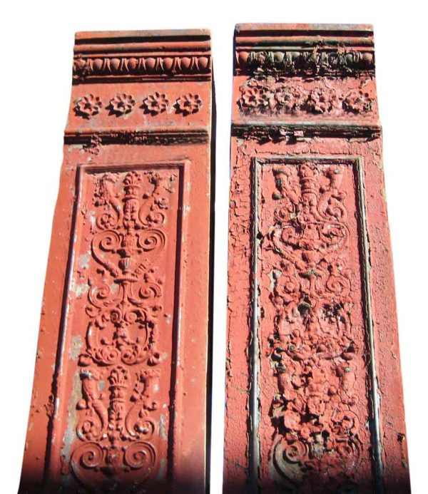 Ornate Cast Iron Building Pilasters