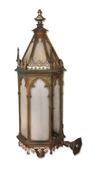 Cast Bronze Gothic Exterior Sconce