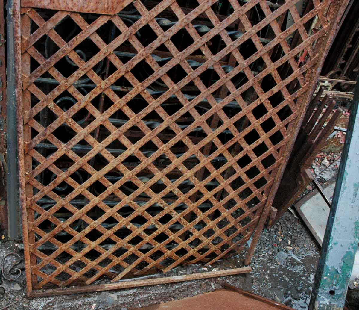 Antique Wrought Iron Gate or Woven Lattice Garden Trellis | Olde ...