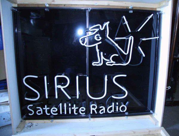 Sirius Satellite Radio Neon Sign