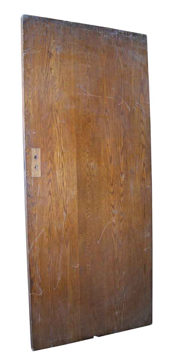 Wide Oak Door with No Panels