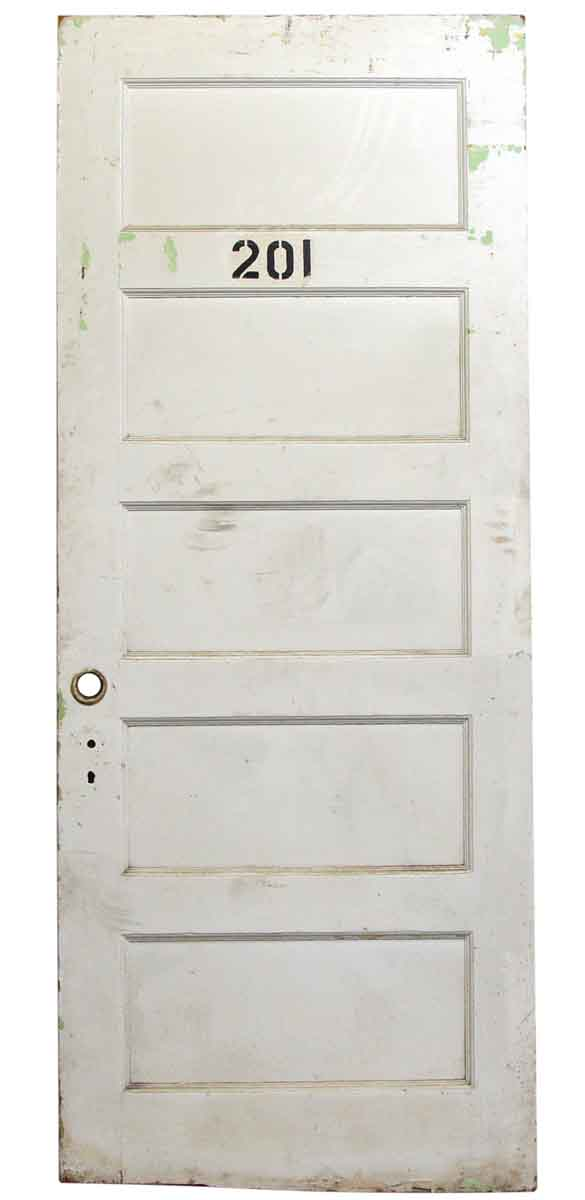 Large White Apartment Door